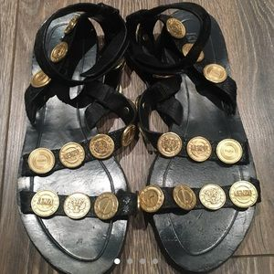 Kenzo Black Coin Sandals Size 38